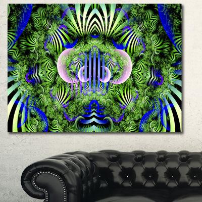 Designart Green Magical Fairy Pattern Floral Canvas Wall Art