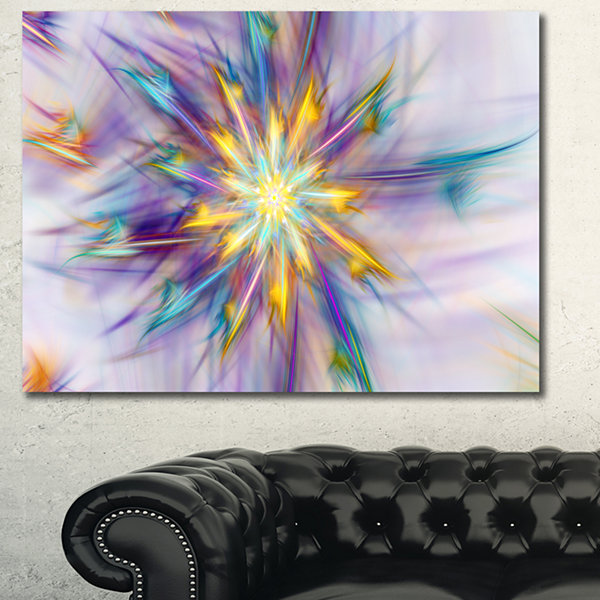 Designart Exotic Colorful Flower Canvas Wall Art