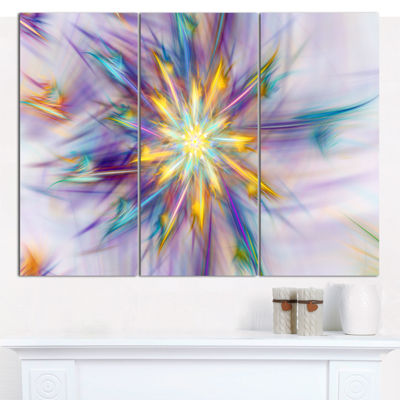 Designart Exotic Colorful Flower Canvas Wall Art-3Panels