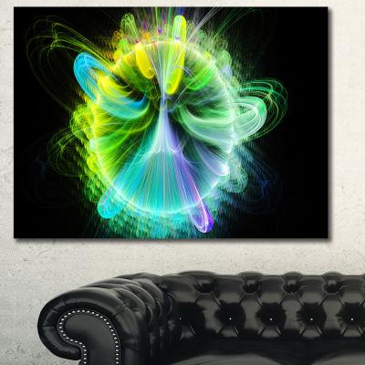 Designart Green Fractal Vortices Of Energy FloralCanvas Wall Art