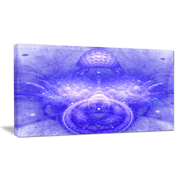 Designart Infinite Blue Boundaries Of World FloralCanvas Wall Art