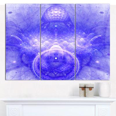 Designart Infinite Blue Boundaries Of World FloralCanvas Wall Art - 3 Panels