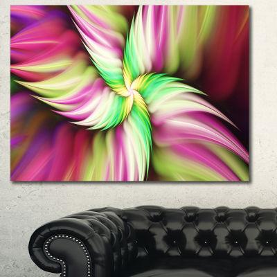 Designart Huge Rotating Pink Flower Canvas Wall Art