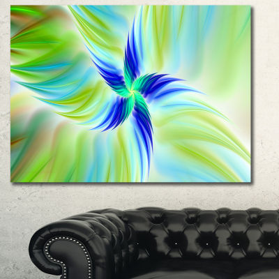 Designart Huge Rotating Green Flower Canvas Wall Art