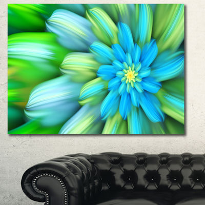 Designart Massive Green Fractal Flower Canvas WallArt