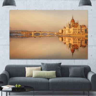 Designart Hungarian Parliament Panorama CityscapeCanvas Wall Art
