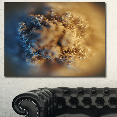 Designart Macro Prickly Texture Brown Abstract Canvas Wall Art