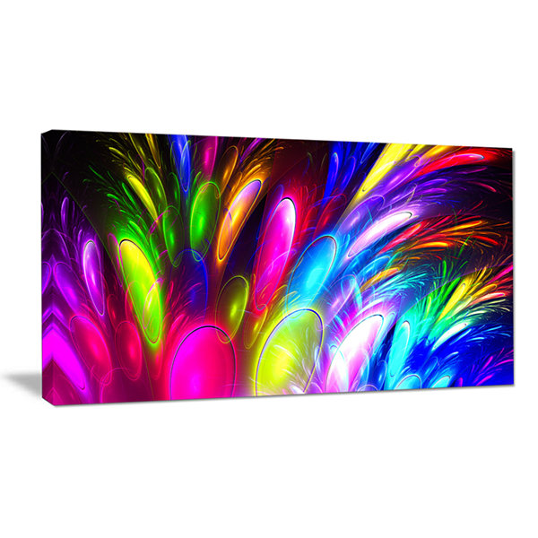 Designart Mysterious Psychedelic Design Abstract Canvas Wall Art