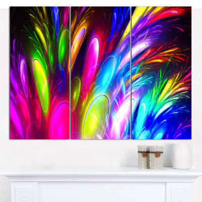 Design Art Mysterious Psychedelic Design AbstractCanvas Wall Art - 3 Panels