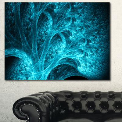 Designart Magical Blue Psychedelic Forest AbstractCanvas Wall Art