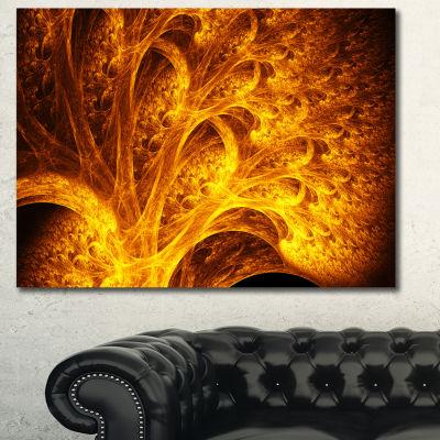 Designart Magical Yellow Psychedelic Tree AbstractCanvas Wall Art