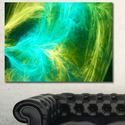 Designart Green Mystic Psychedelic Design AbstractCanvas Wall Art