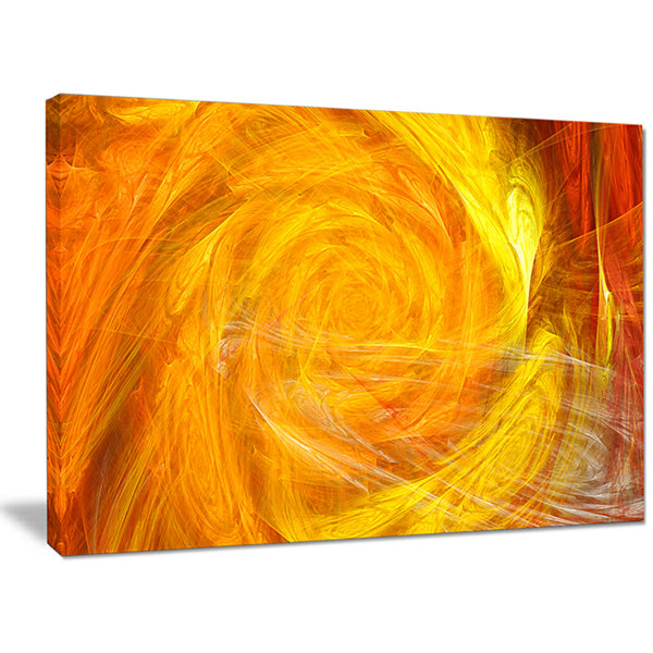 Designart Mystic Abstract Fractal Rose Abstract Canvas Wall Art