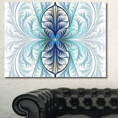 Designart Light Blue Stained Glass Texture Abstract Canvas Wall Art