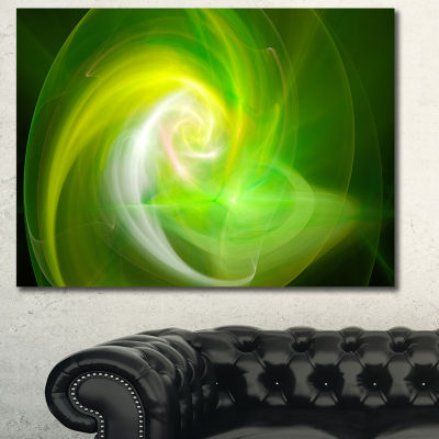 Designart Green Fractal Abstract Illustration Canvas Wall Art