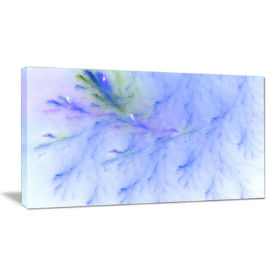 Designart Light Blue Veins Of Marble Abstract Canvas Wall Art
