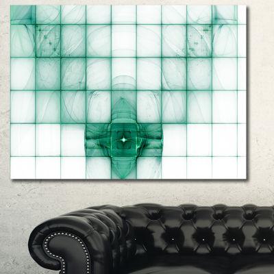 Designart Light Blue Bat On Radar Screen AbstractCanvas Wall Art