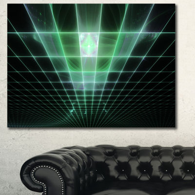 Designart Light Green Bat On Radar Screen AbstractCanvas Wall Art