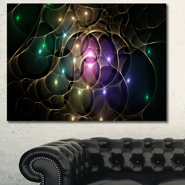 Designart Myriad Of Colored Space Circles AbstractCanvas Wall Art