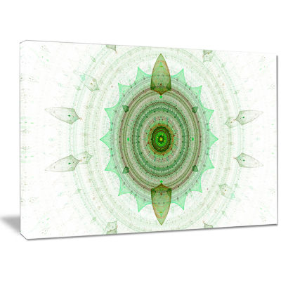 Designart Light Green Cryptical Sphere Abstract Canvas Wall Art