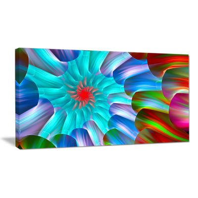 Designart Multi Layered Fractal Spirals Abstract Canvas Wall Art