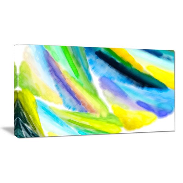 Designart Green Vibrant Brushstrokes Abstract Canvas Wall Art