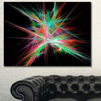 Designart Green Red Spectrum Of Light Abstract Canvas Wall Art