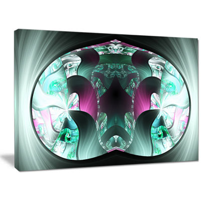 Designart Grey Capsule In Plasma Abstract Canvas Wall Art
