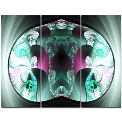 Designart Grey Capsule In Plasma Abstract CanvasWall Art - 3 Panels