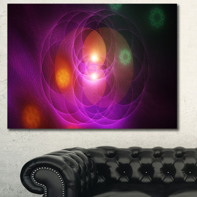 Designart Merge Colored Spheres Contemporary Canvas Wall Art