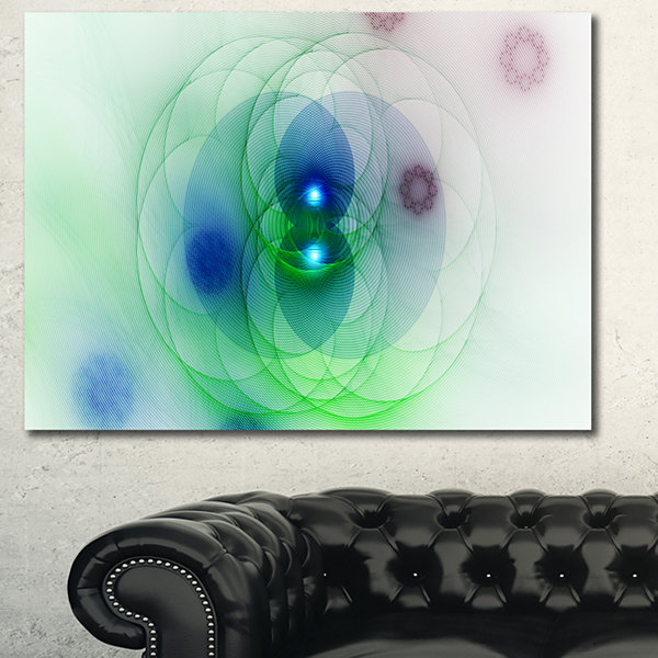Designart Merge Dark Colored Spheres Abstract Canvas Wall Art