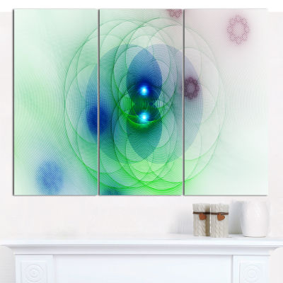 Designart Merge Colored Spheres Abstract Canvas Wall Art - 3 Panels