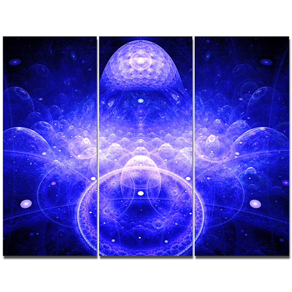 Design Art Mystic 3D Surreal Illustration AbstractCanvas Wall Art - 3 Panels
