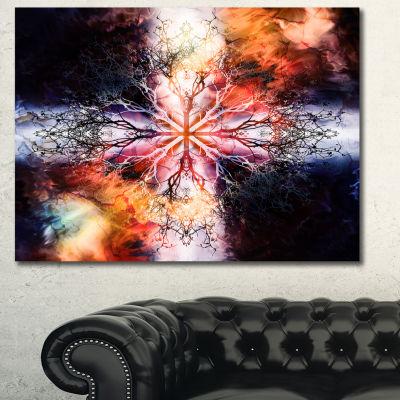 Designart Mandala With Tree Pattern Abstract Canvas Wall Art