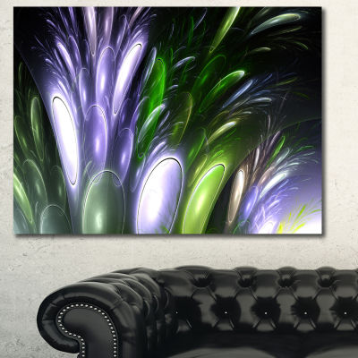 Designart Mysterious Psychedelic Flower Abstract Canvas Wall Art