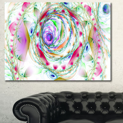 Designart Multi Color Exotic Flower Whirlpool Floral Canvas Wall Art
