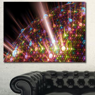 Designart Multi Color Solar Bubbles Planet Abstract Canvas Wall Art