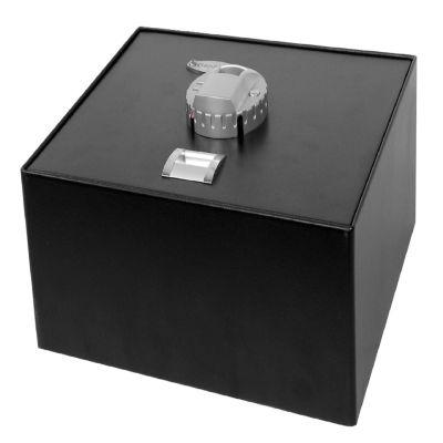 Barska Top Open Biometric Safe; Black; 14.75X11.25X5In Exerior Ax11556