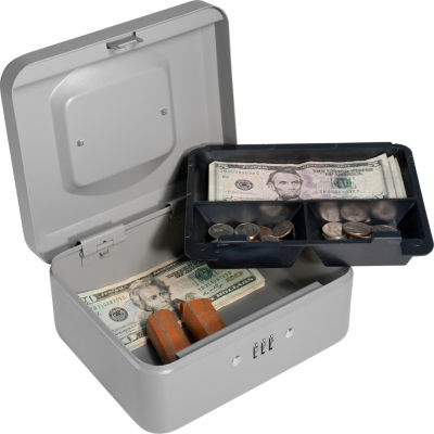 Barska Combination Lock Cash Box; 8In Cb11784