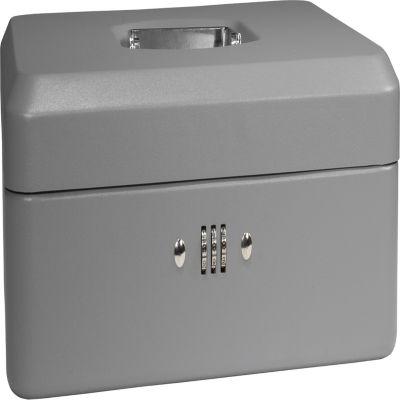 "Barska 12"" Cash Box with Combination Lock Grey"