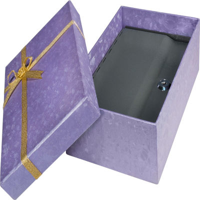 Barska Gift Box Lock Box Purple with Key Lock