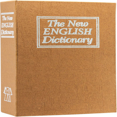 Barska Dictionary Book Lock Box with Combination Lock Brown