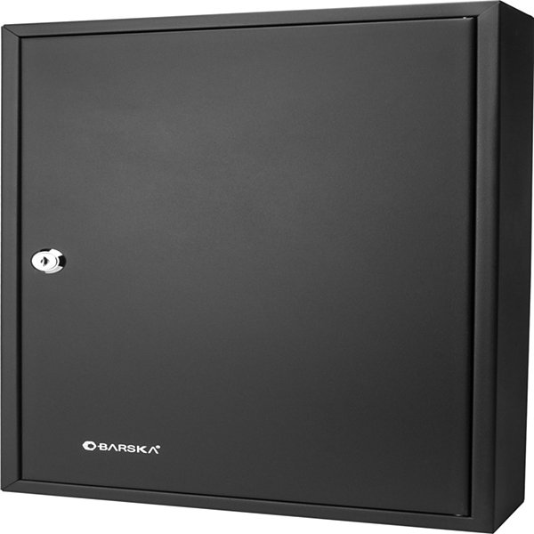 Barska 64 Key Adjustable Lock Box Security Safe W/Key Lock; Steel; Black Cb12486