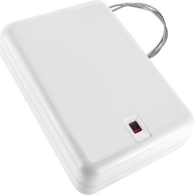 Barska Portable Biometric Keypad Lock Box White