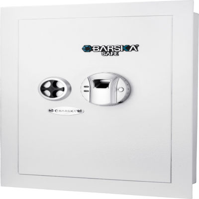 White Biometric Wall Safe