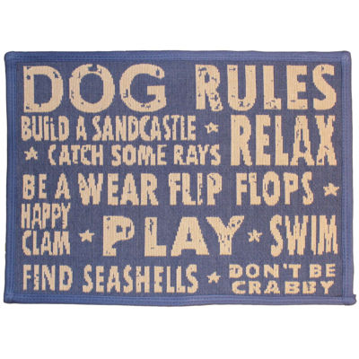 "P. B. Paws by Park B. Smith® 13"" x 19"" Dog Rules Pet Mat"