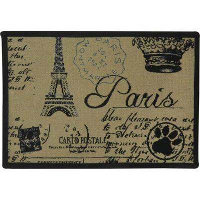 """P. B. Paws by Park B. Smith® 13"""" x 19"""" Paris Collage Pet Mat"""