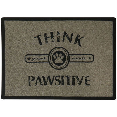 """P. B. Paws by Park B. Smith® 13"""" x 19"""" Think Pawsitive Pet Mat"""