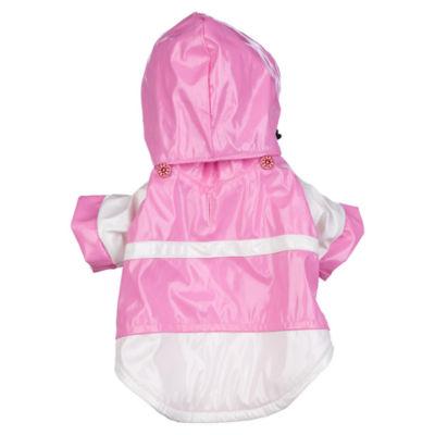 The Pet Life Baby Blue Pvc Waterproof Adjustable Pet Raincoat