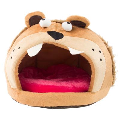 The Pet Life Roar Bear Snuggle Plush Polar Fleece Pet Bed